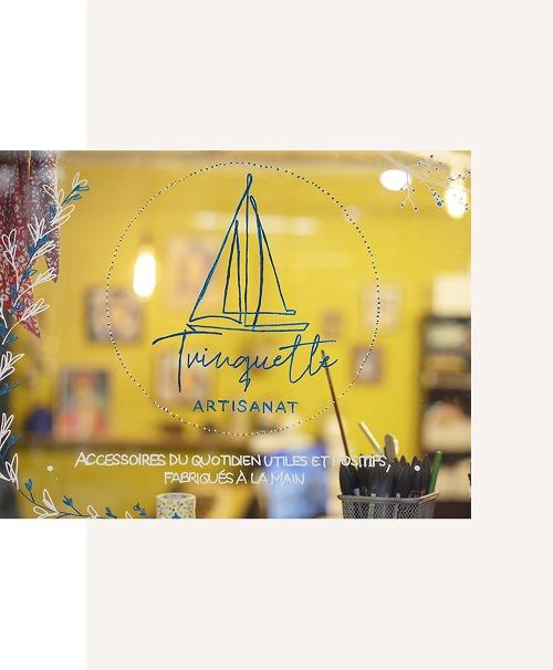 Boutique vitrine Trinquette Artisanat