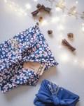 """Furoshiki """"Lisbonne"""" emballage écologique en tissu réutilisable"""
