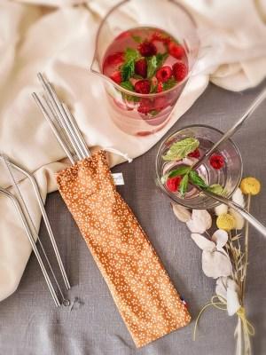 Pailles inox Qwetch - Pochette Trinquette Artisanat