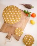 Couvre plat réutilisable - lot de 3 - Grue Moutarde - Trinquette Artisanat