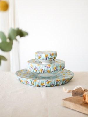 charlottes à plat - lot de 3 -Ciel - Trinquette Artisanat - Coloris Ciel