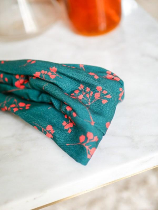 Bandeau cheveux - Trinquette Artisanat - Coloris Make Vert