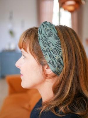 Bandeau cheveux - Trinquette Artisanat - Coloris Rameaux Vert