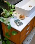 Pochette à savon en coton enduit, coloris Eventail Bleu - Trinquette Artisanat