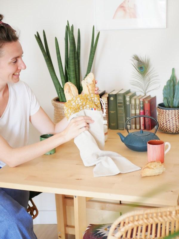 Sac à pain - Moutarde Liberty - Trinquette Artisanat - Coton Liberty