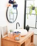 Trousse de toilette ronde en coton bio - coloris orange - Trinquette Artisanat
