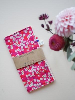 Feuille essuie-tout lavable - Liberty Rose - Trinquette Artisanat