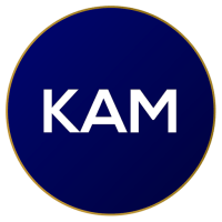 KAM transparent logo on home page