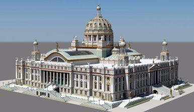 Recreación del Palacio. Heblem // Sintropolis.