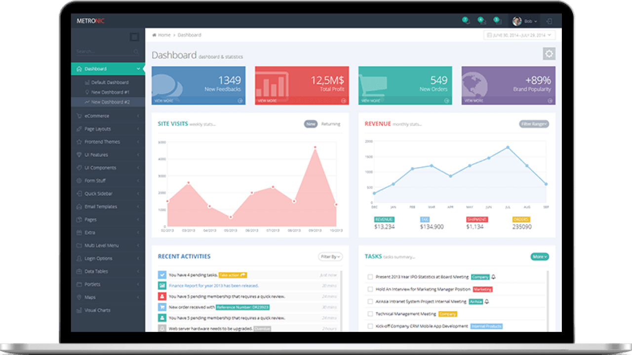 How to integrate Metronic theme as admin dashboard in