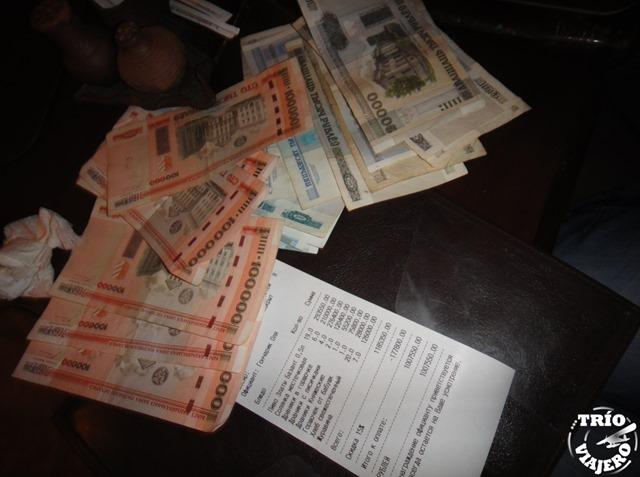 Cuenta de un millón de rublos bielorrusos, Minsk