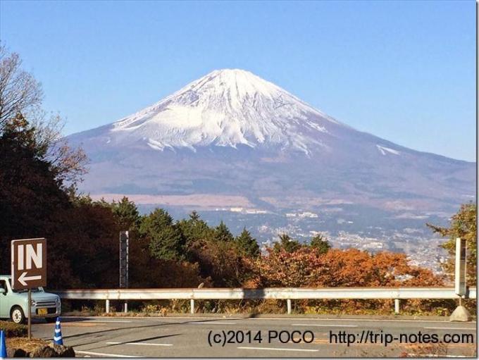 ふじみ茶屋からの富士山