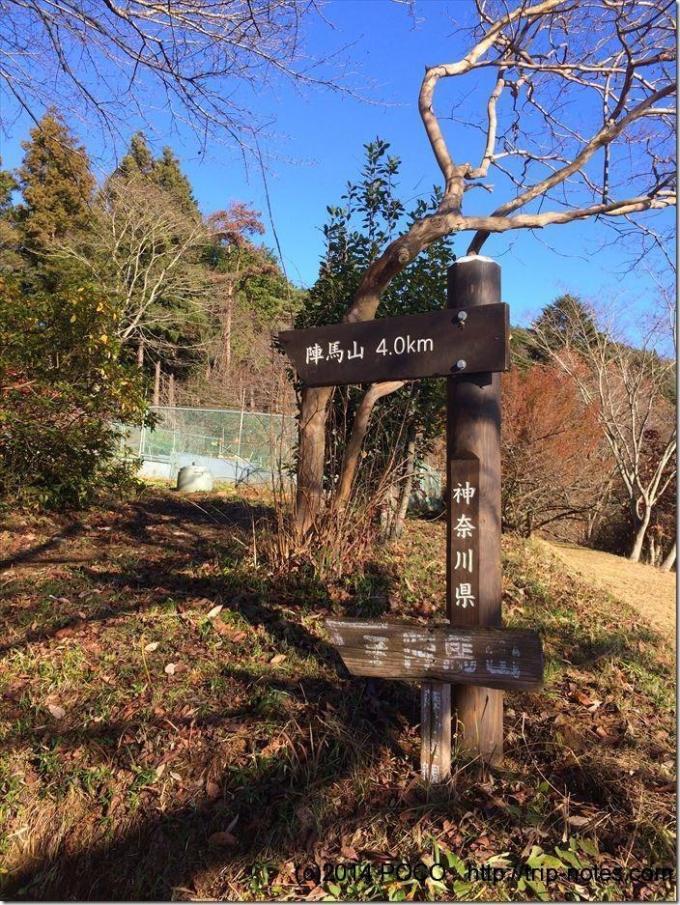 陣馬山まで4km