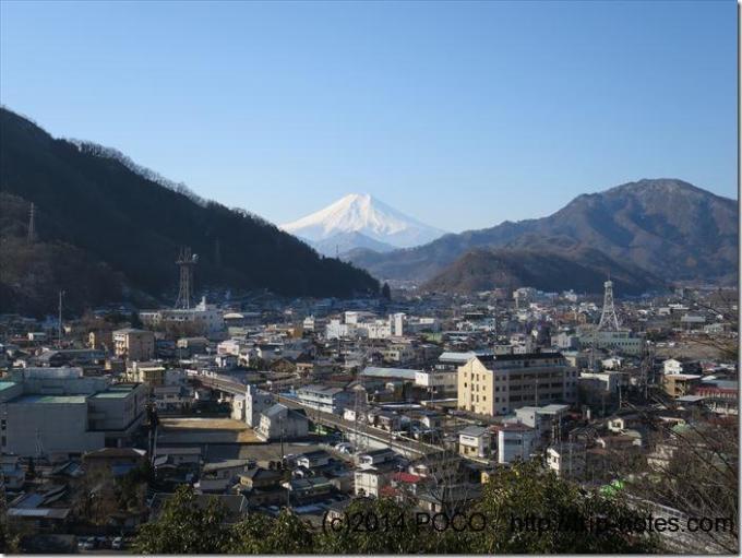 岩殿山から富士山
