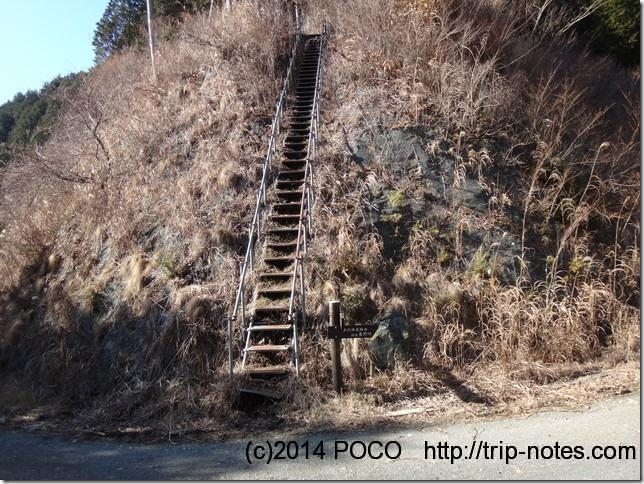 シダンゴ山鉄梯子