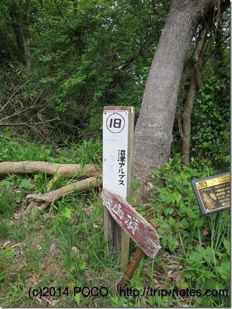 香貫山山頂への道