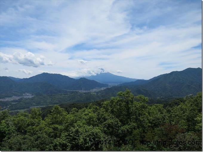 高川山からの富士山