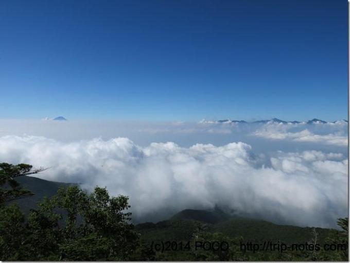 編笠山の雲海