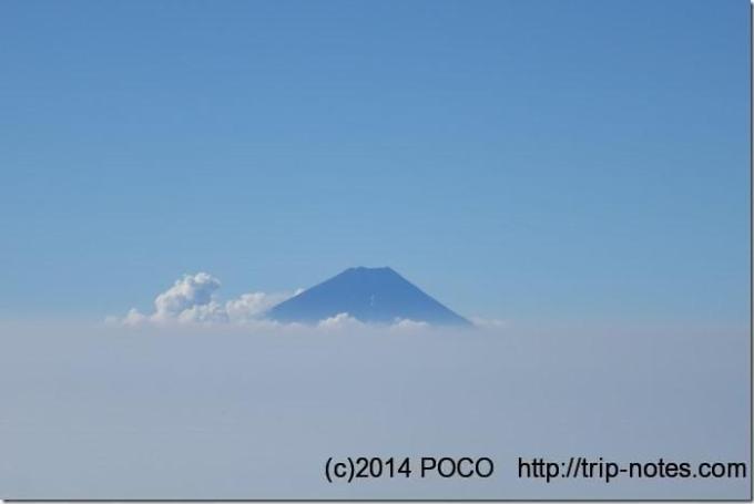 編笠山から富士山