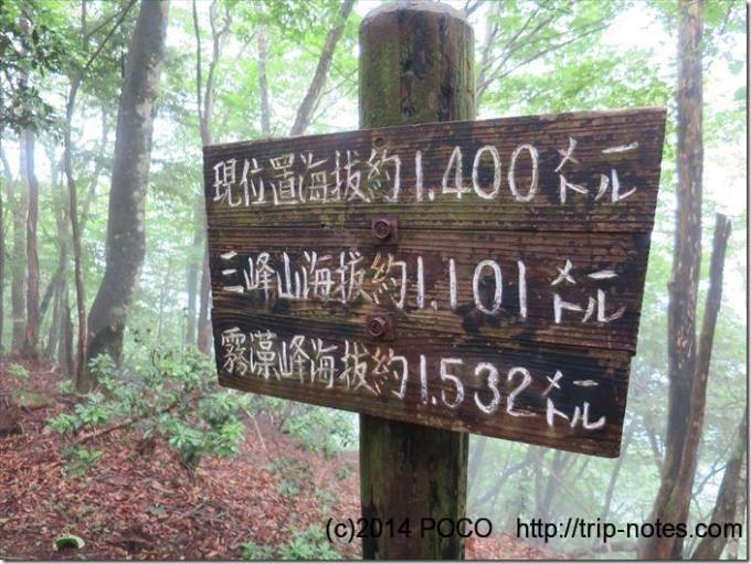 三峰登山道