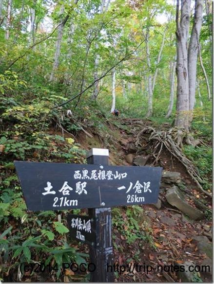 西黒尾根登山口