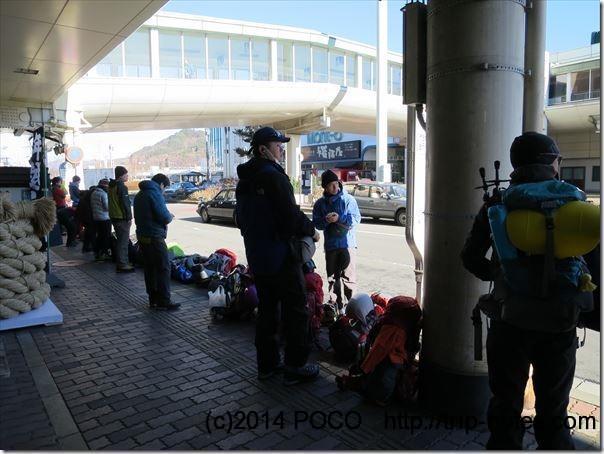 茅野駅から美濃戸口へのバス停