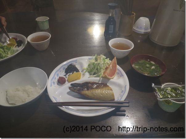 赤岳鉱泉の朝食