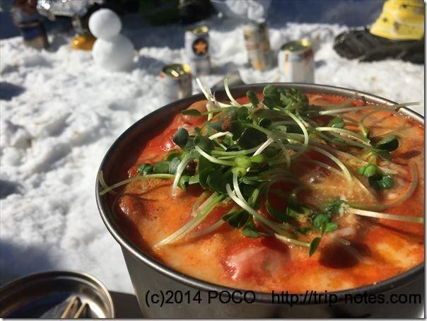トマトスープ鍋_かいわれ