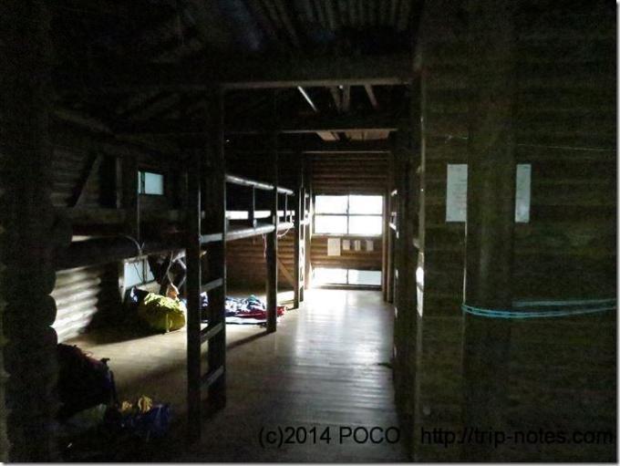 淀川小屋の内部
