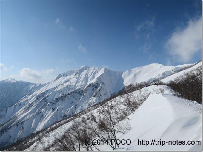 積雪期の谷川岳
