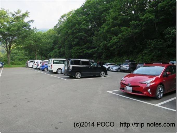 巻機山の桜坂駐車場