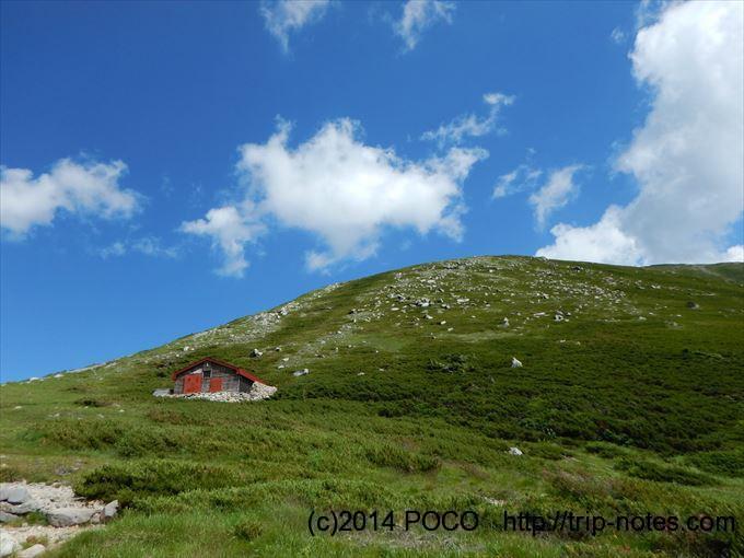 双六小屋の冬季小屋