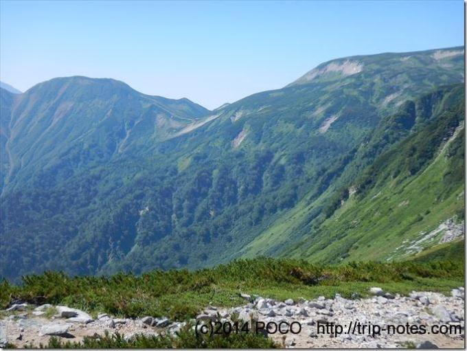 双六岳巻き道コース