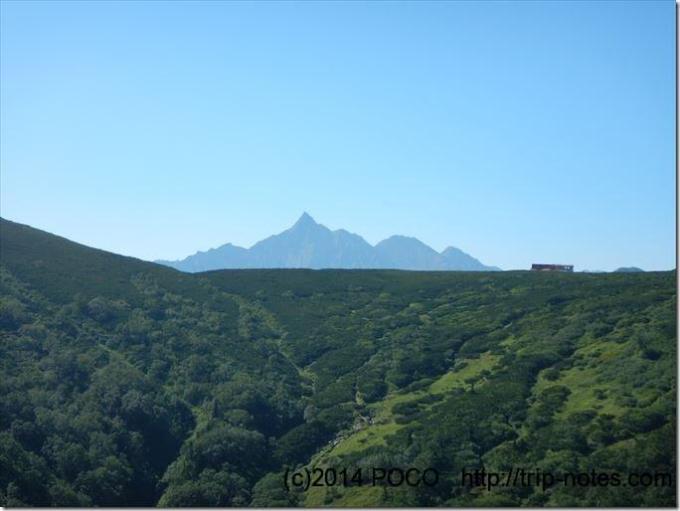 三俣山荘と槍ヶ岳