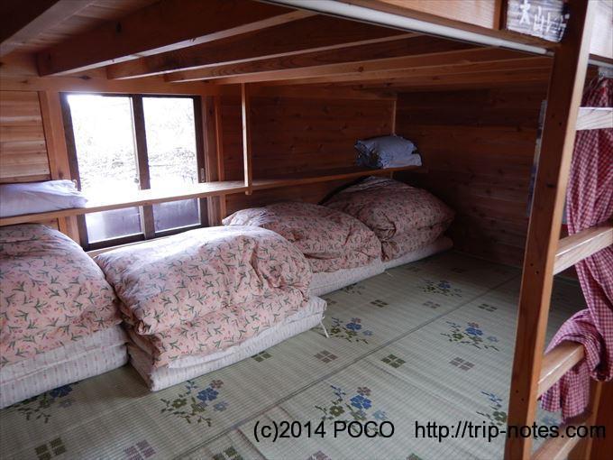 船窪小屋の寝室