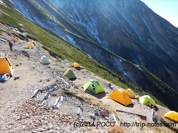 五竜山荘のテン場
