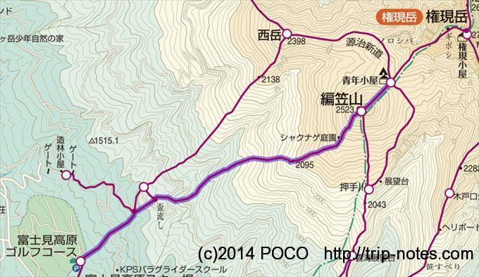富士見高原から青年小屋_R