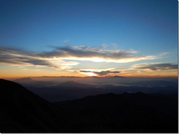 五龍山荘の朝