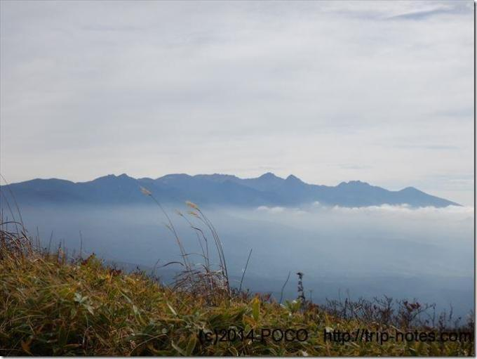 霧ヶ峰高原からの八ヶ岳眺望