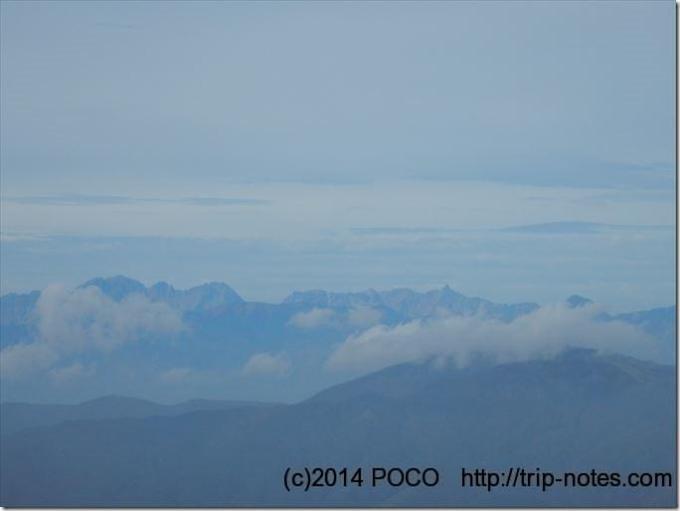 霧ヶ峰高原からの北アルプス眺望
