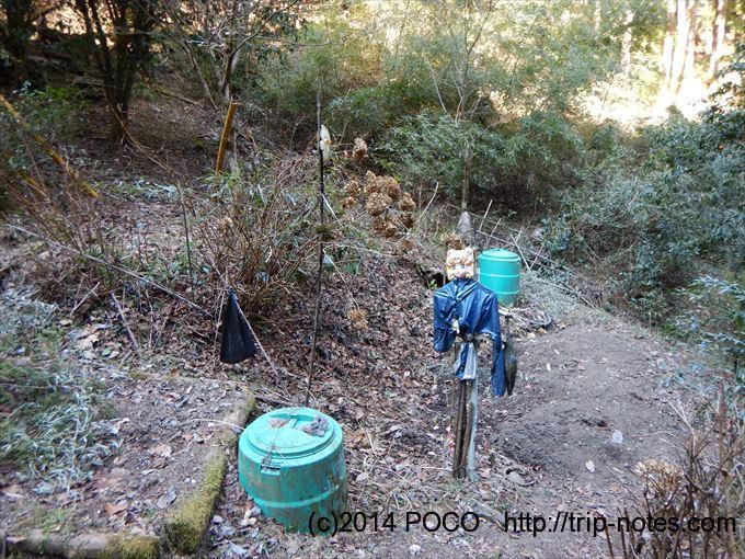 浅見茶屋への山道