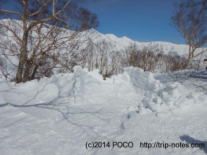 唐松岳雪山日帰り登山