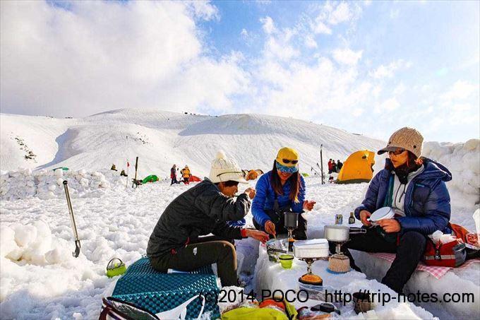 雷鳥沢キャンプ場で山ご飯