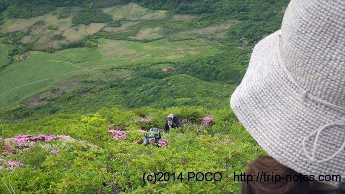 三俣山の破線ルート