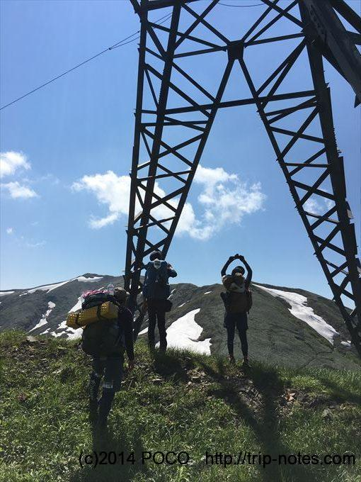 谷川岳馬蹄形縦走 鉄塔