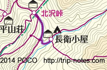 北沢峠から長衛小屋