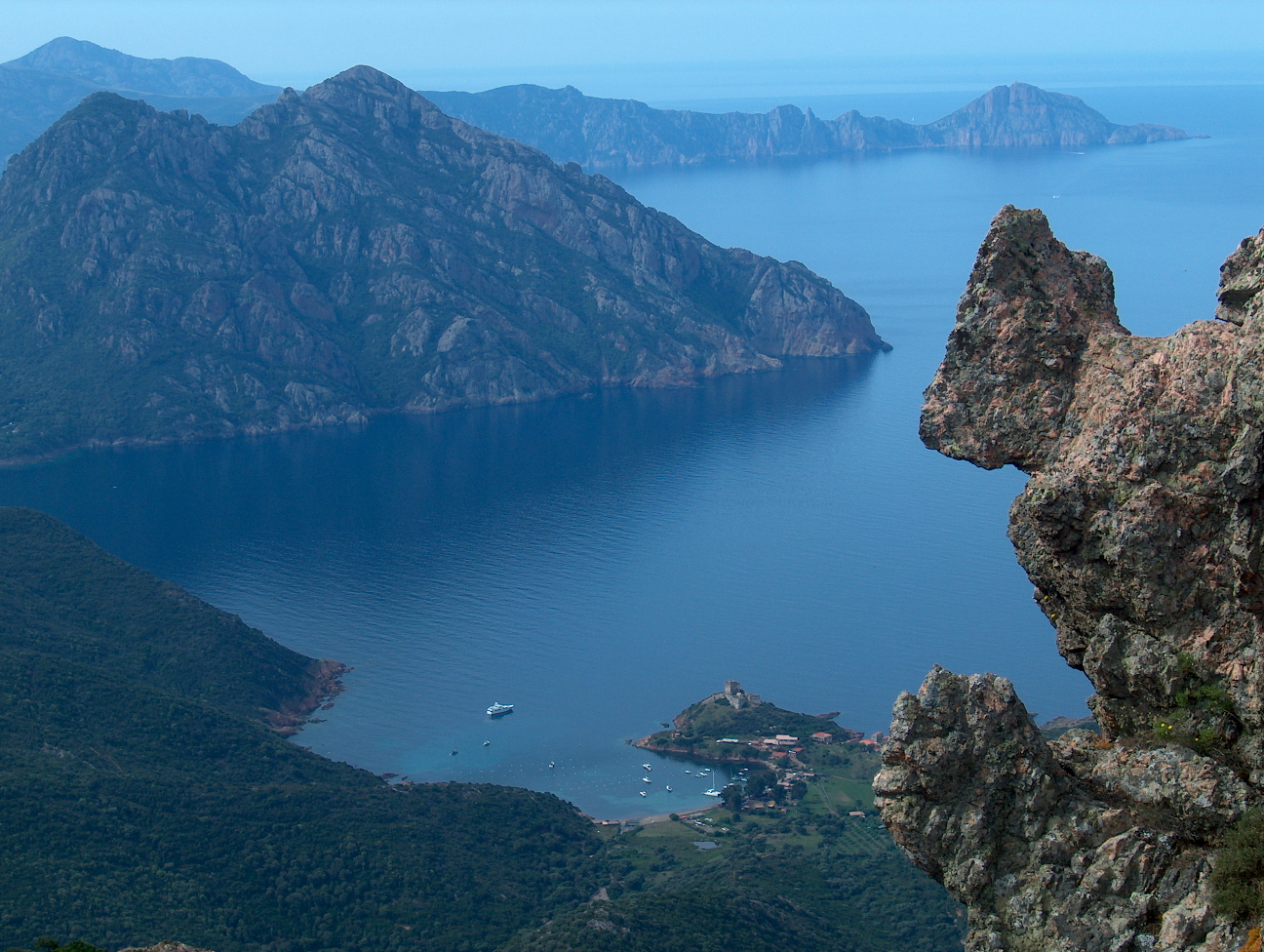The Gulf of Girolata in France.