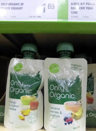 gourdes compotes yoghurt - produits bébé nouvelle zélande