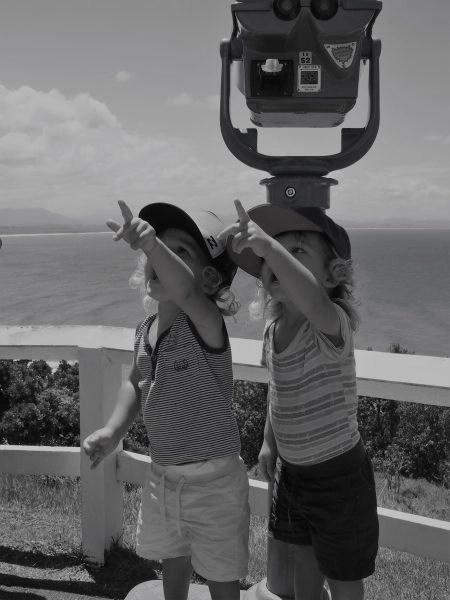 Phare de Byron Bay... mais qu'importe la vue quand il y a des oiseaux dans le ciel !