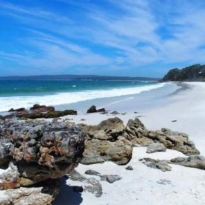 Hyams beah, où le sable serait - paraît-il - le plus blanc du monde